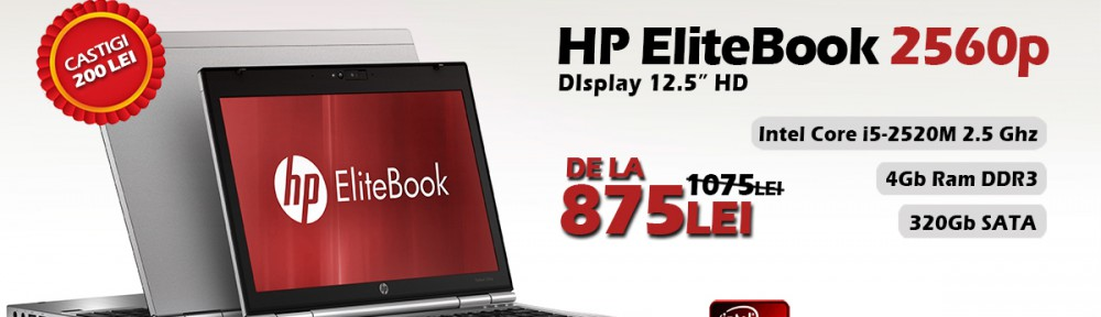 Laptop HP EliteBook 2560p cu procesor Intel Core i5, 4Gb DRR3 si 320Gb spatiu de stocare!