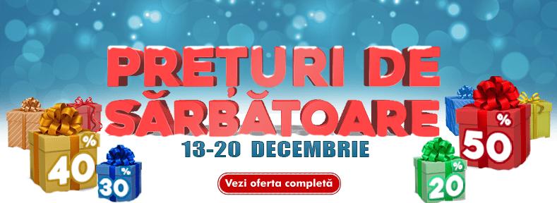 Prețuri de Sărbătoare! 13-20 Decembrie | Reduceri mari
