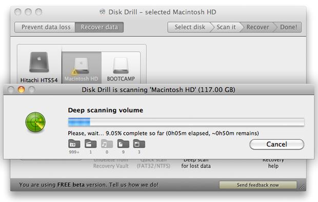 diskdrill-scanning