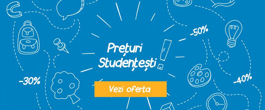Prețuri Studențești - Reduceri de până la 50%