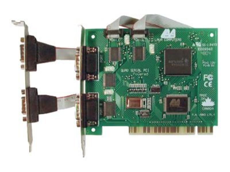 Extensie Lava Computers Quattro PCI, 4 porturi Serial 9 pini, Conexiune PCI